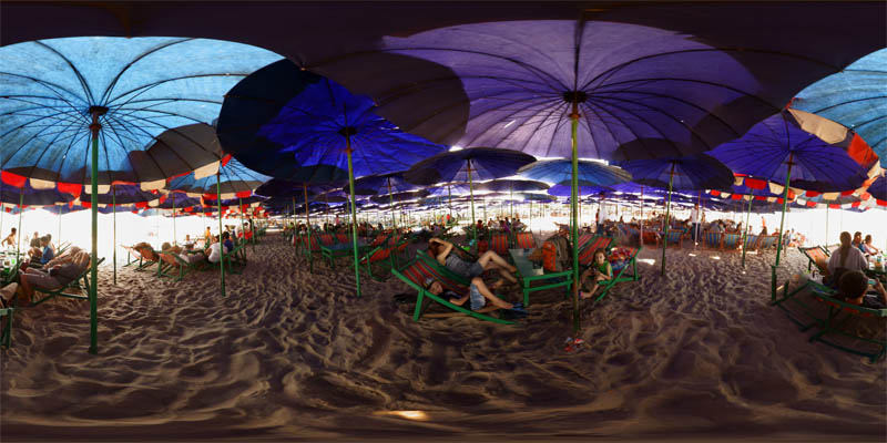 Beach Umbrellas Panorama Preview